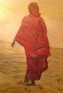 donna deserto orme