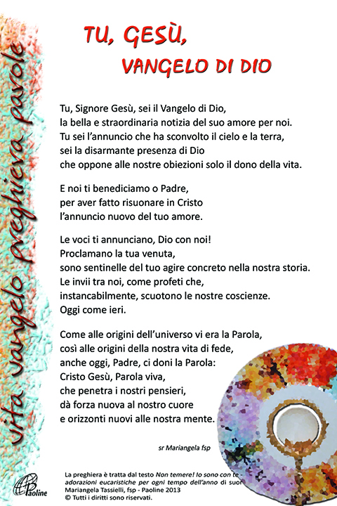 spesso Eucaristia | Cantalavita PT31