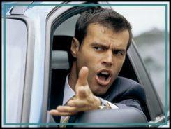 EXASPERATED MAN IN HIS CAR   Original Filename: 10135102.jpg