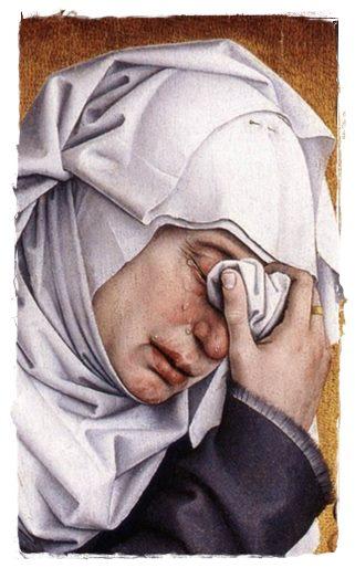donna piangente cv