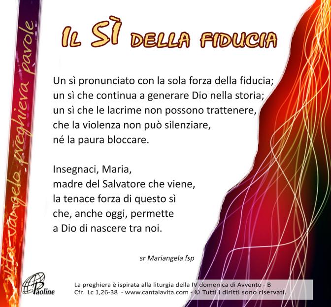 La forza della fragilità – Buona domenica! – IV domenica di Avvento – anno B