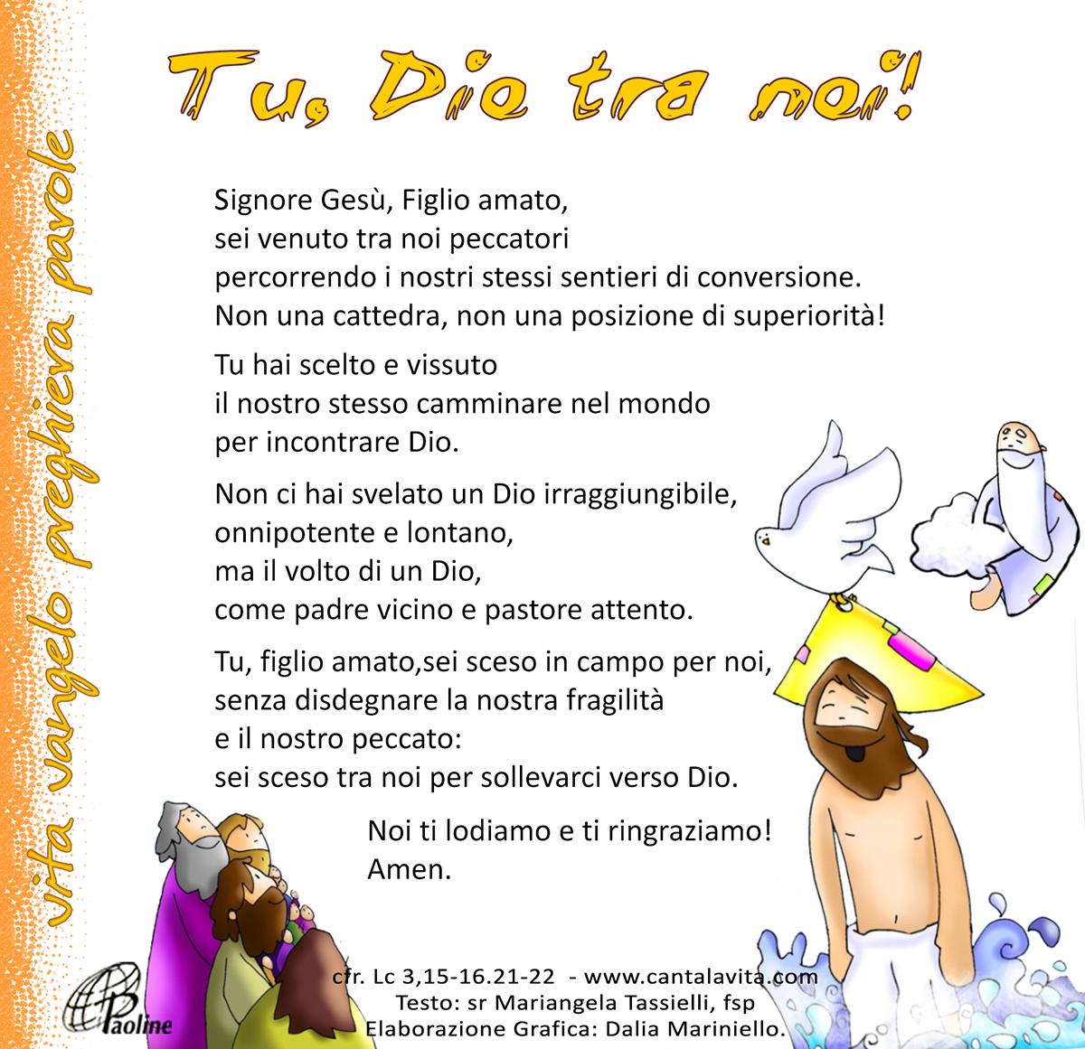 Risultati immagini per battesimo del Signore canta la vita.com