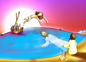 Gesù sulla riva