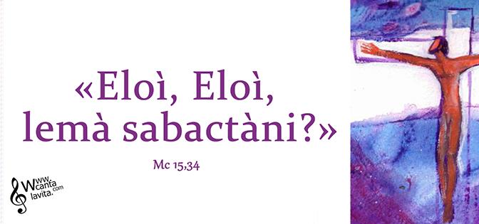 Non mi sono tirato indietro – Buona domenica! – Domenica delle Palme – Anno B