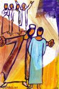 Gesù rimase in silenzio