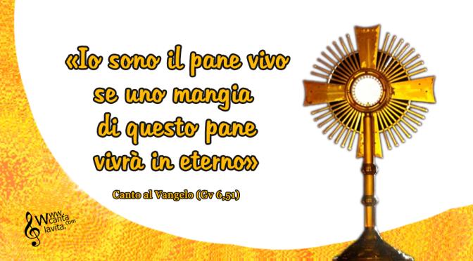 Alla tua presenza – Buona domenica! – Solennità del Corpus Domini  – anno C