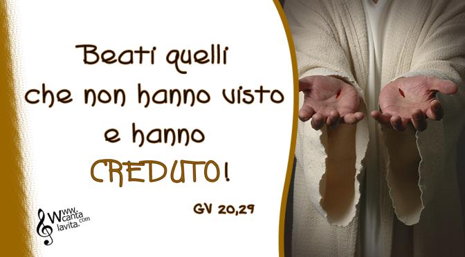 Sei tra noi, Signore Risorto – BUONA DOMENICA! II Domenica di Pasqua 2020 – ANNO A