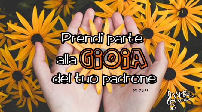 Talenti – BUONA DOMENICA! XXXIII Tempo Ordinario – ANNO A